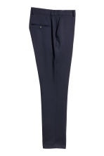 Wool suit trousers Regular fit - Dark blue - Men | H&M 3