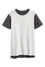 Cotton T-shirt - Light grey marl - Kids | H&M 2
