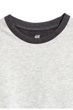 Cotton T-shirt - Light grey marl - Kids | H&M 3