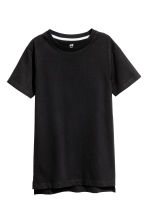 Cotton T-shirt - Black - Kids | H&M CA 2