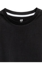 Cotton T-shirt - Black - Kids | H&M CA 3