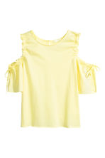 Cold shoulder top - Light yellow - Ladies | H&M CN 2