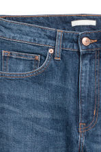 Straight Regular Cropped Jeans - Dark denim blue - Ladies | H&M 4