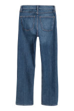 Straight Regular Cropped Jeans - 深牛仔蓝 - 女士 | H&M CN 3