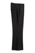 Wide suit trousers - Black - Ladies | H&M 3