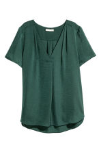 V-neck blouse - Dark green - Ladies | H&M 2