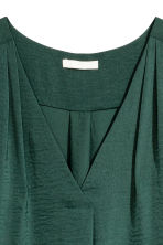 V-neck blouse - Dark green - Ladies | H&M CN 3