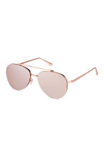 Sunglasses - Rose gold-colored - Ladies | H&M CA 1