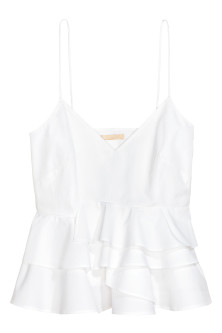Flounced strappy top