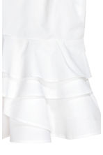 Flounced strappy top - White -  | H&M CA 3