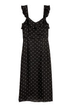 Frilled dress - Black/Spotted - Ladies | H&M 2