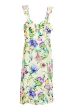 Frilled dress - Light yellow/Floral - Ladies | H&M 2