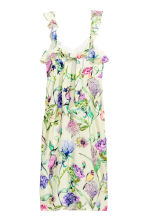 Frilled dress - Light yellow/Floral - Ladies | H&M 3