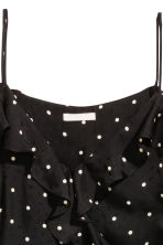 Cold shoulder blouse - Black/Spotted -  | H&M CA 3