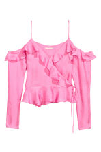 Cold shoulder blouse - Pink - Ladies | H&M GB 2