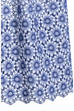 Cotton dress with embroidery - White/Blue floral - Ladies | H&M GB 3