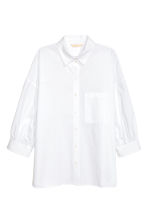 Wide cotton blouse - White - Ladies | H&M 2