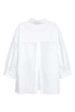 Wide cotton blouse - White - Ladies | H&M 3