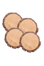 4-pack wooden coasters - Natural - Home All | H&M IE 1