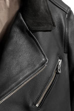 Leather biker jacket - Black - Men | H&M 3