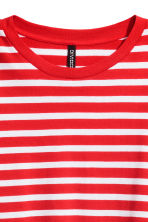Cropped jersey top - Red/White striped - Ladies | H&M 2