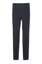 Zip-hemmed treggings - Dark blue/Pinstriped - Ladies | H&M 2