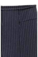 Zip-hemmed treggings - Dark blue/Pinstriped - Ladies | H&M 3