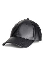 Imitation leather cap - Black - Men | H&M 1