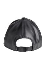Imitation leather cap - Black - Men | H&M 2