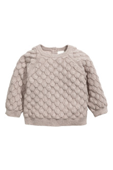 Textured-knit cotton jumper