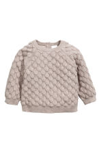 Textured-knit cotton jumper - Light mole -  | H&M 1