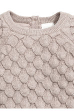 Textured-knit cotton jumper - Light mole -  | H&M 2