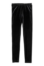 Velour leggings - Black - Kids | H&M 2