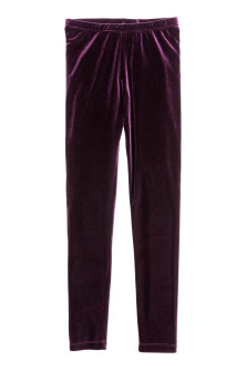 Leggings i velour