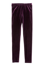 Leggings in velour - Prugna -  | H&M IT 2