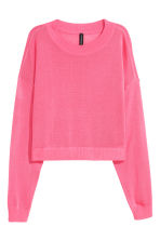 Short jumper - Neon pink - Ladies | H&M 2