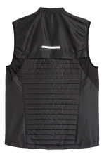 Padded running gilet - Black - Men | H&M 3