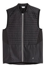 Padded running gilet - Black - Men | H&M 2
