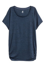 Sports top - Dark blue -  | H&M 2