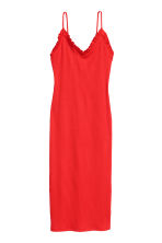 Ribbed dress - Red - Ladies | H&M 2