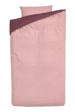 Patterned duvet cover set - Powder pink -  | H&M IE 1