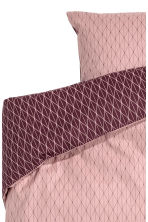 Patterned duvet cover set - Powder pink -  | H&M IE 2