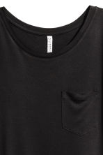 T-shirt with a chest pocket - Black - Ladies | H&M CA 3