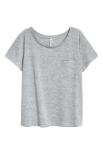 單胸袋T恤 - Grey marl - Ladies | H&M 2