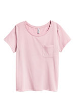 T-shirt with a chest pocket - Light pink - Ladies | H&M CA 2