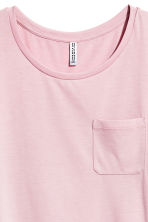 T-shirt with a chest pocket - Light pink - Ladies | H&M CA 3