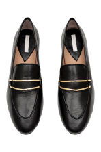 Leather loafers - Black - Ladies | H&M CN 2