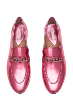 Leather loafers - Pink/Metallic - Ladies | H&M 3
