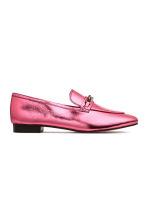 Leather loafers - Pink/Metallic - Ladies | H&M 2