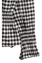 Smocked blouse - Black/White/Checked - Ladies | H&M 4